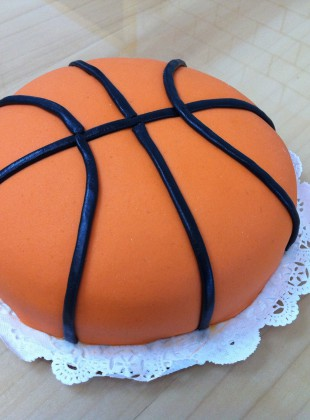 This is a princess cake disguised as a basketball